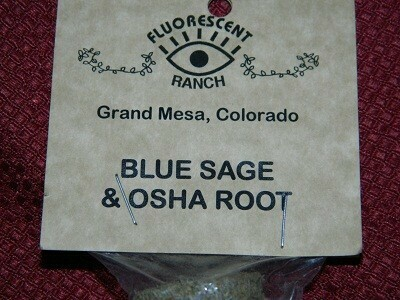 Blue sage and osha root smudge