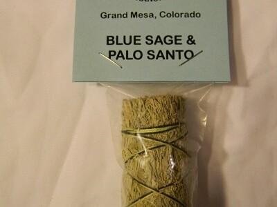 Blue Sage and Palo Santo smudge