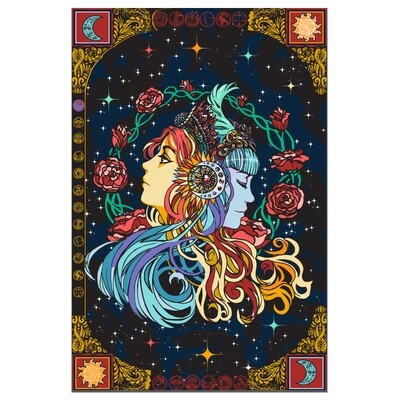 Celestial Zodiac 3D Tapestry