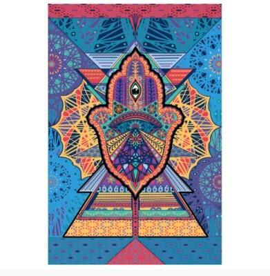Geometric Hamsa Tapestry 3D