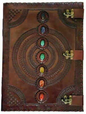 Leather chakra journal 13.5 X 18