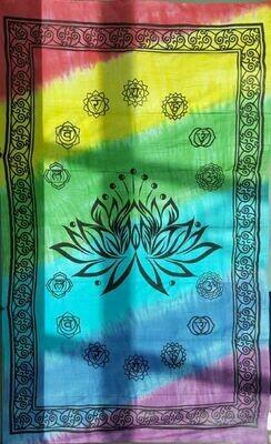 Lotus Chakra tie dye tapestry