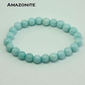 Amazonite 8 mm stone bead bracelet