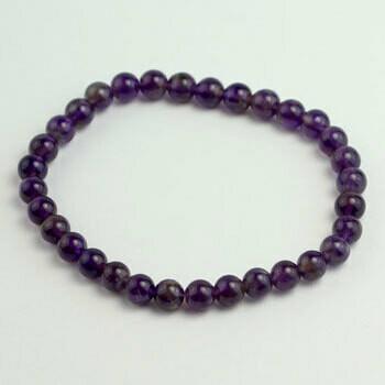 Amethyst 8 mmstone bead bracelet