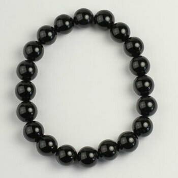 Black Onyx 10 mm stone bead bracelet