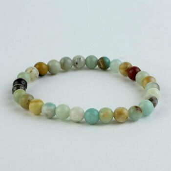 Amazonite 8 mm mixed stone bead bracelet