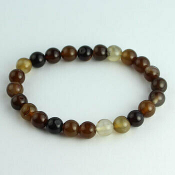 Botswanna Agate 8 mmstone bead bracelet