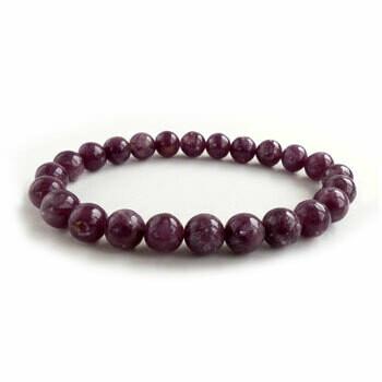 Lepidolite 8 mm stone bead bracelet