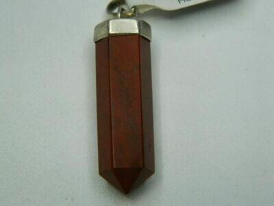 Red Jasper Crystal Point Pendant (BR)