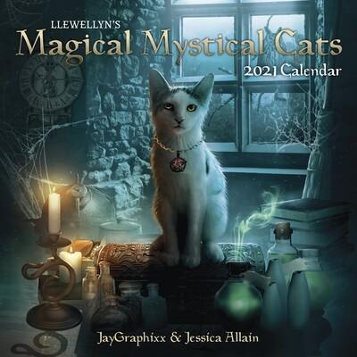 2021 Llewellyn's Magical Mystical Cats Calendar