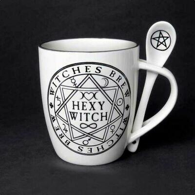 Hexy Witch mug & spoon set