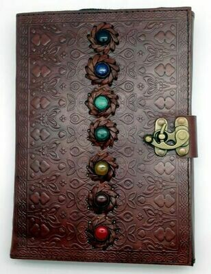 7x10 leather chakra journal (FG) 2705