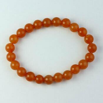 Carnelian 8 mm stone bead bracelet