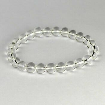 Quartz 8 mm Stone Bead Bracelet
