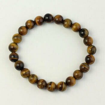 Tiger eye 8 mm stone bead bracelet