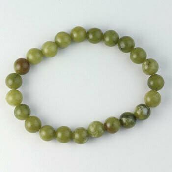 Serpentine 8 mm Stone Bead Bracelet