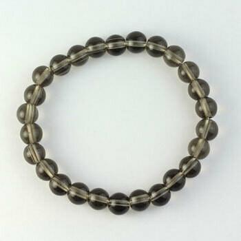 Smokey Quartz 8 mm stone bead bracelet