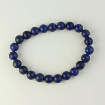 Lapis 8 mm Stone Bead Bracelet