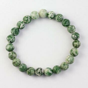 Tree Agate 8 mm stone bead bracelet