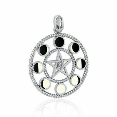 Phases of the Moon Pentacle Pendant