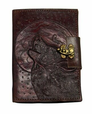 Wolf Moon leather journal BBBL431