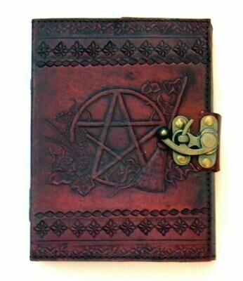 Sabrina's pentagram leather journal