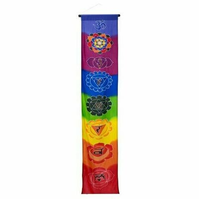 Seven Chakras Lg Multi Color Banner