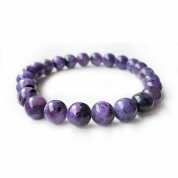 Charoite 8 mmStone Bead Bracelet