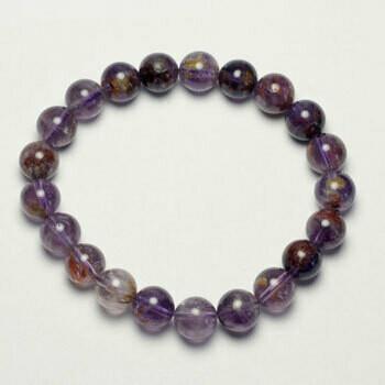 Ametrine Stone 8 mm Bead Bracelet