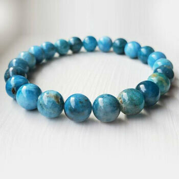 Blue Apatite 8 mm bead bracelet