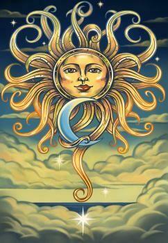 3D Sun & Moon Tapestry