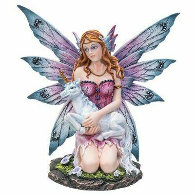 Adorable fairy with unicorn