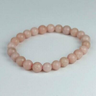 Pink Opal 8 mm  Stone Bead Bracelet