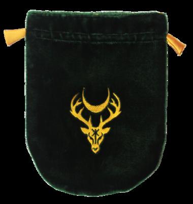 Green Stag Velvet pouch