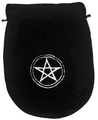 Black Pentagram Velvet pouch
