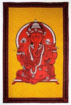 Ganesh Tapestry (red)
