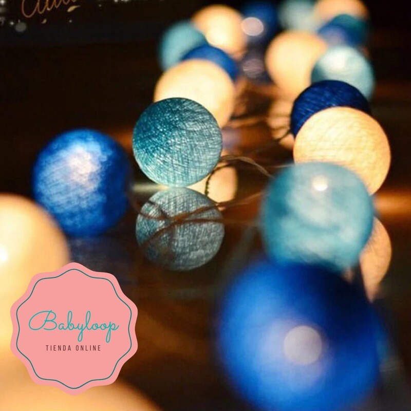 Guirnalda de luces x 20 leds (Azul)