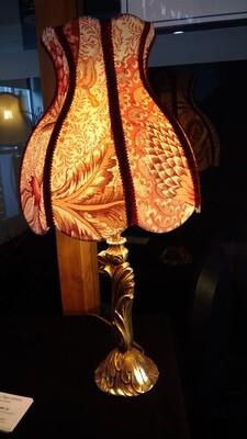Lampe tulipe bordeaux Bracquenié