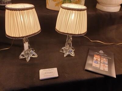 Paire de petites lampes Cristal de Vannes le Châtel