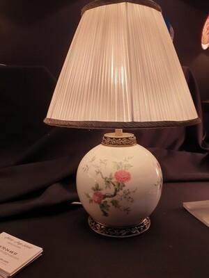 petite lampe boule plissé pongé de soie