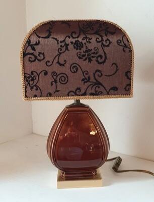 Lampe complète abat-jour dôme rectangle.