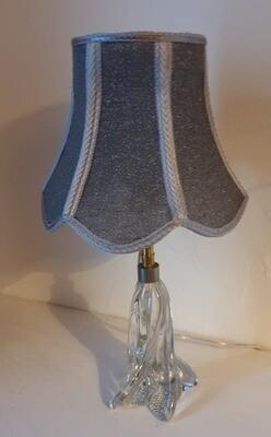 Lampe complète  abat-jour pagode gris argenté