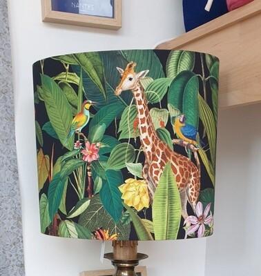 Abat-jour ovale girafe