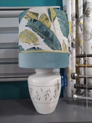 Lampe abat-jour cylindre aux deux velours