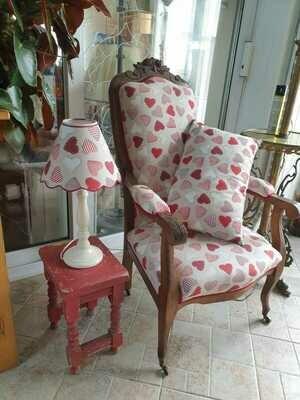 Ensemble fauteuil voltaire ancien refait à neuf