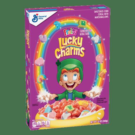 FRUITY LUCKY CHARMS PŁATKI BOX