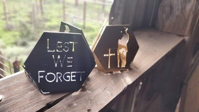 ANZAC - Tea Light Candle Holder