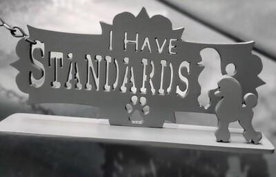 I have Standards (Poodle ) Mantel Peice