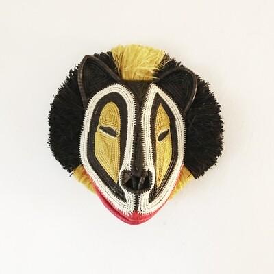 Masque Tribal LION / pièce unique réalisée à la main