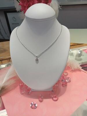 18ct White Gold Pink Diamond Pendant